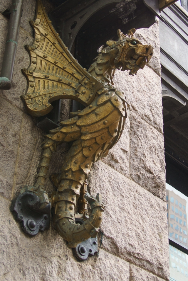 Gargoyle guarding a building in Pittsburgh, PA