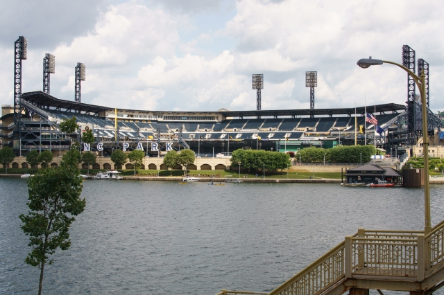 PNC Park as seen across the Allegheny River - Pittsbrugh, PA