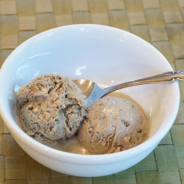 Dessert is ready! Coffee ice cream with Heath Bar chunks