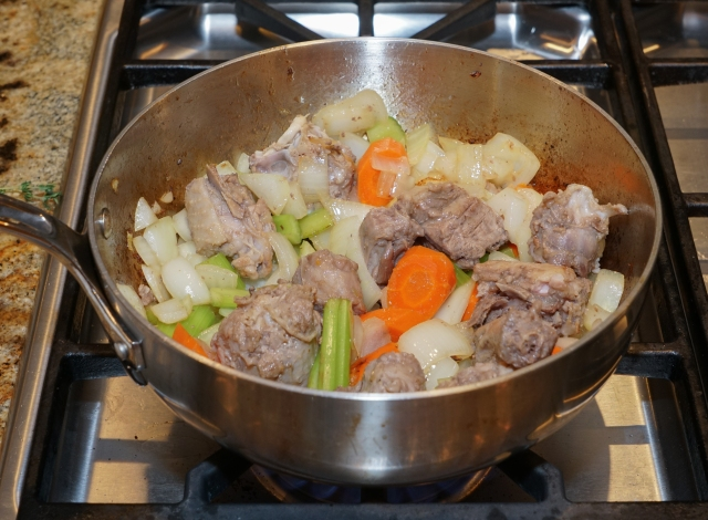 Browning turkey bits for turkey stock