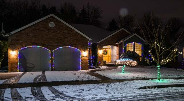 Christmas lights in the neighborhood