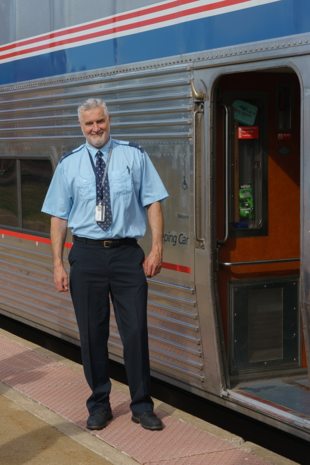 Dennis - Our fantastic car attendant on the California Zephyr