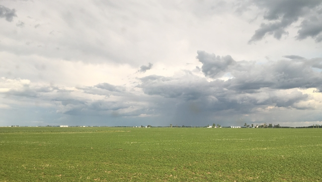 Stormy weather near the Illinois, Iowa border