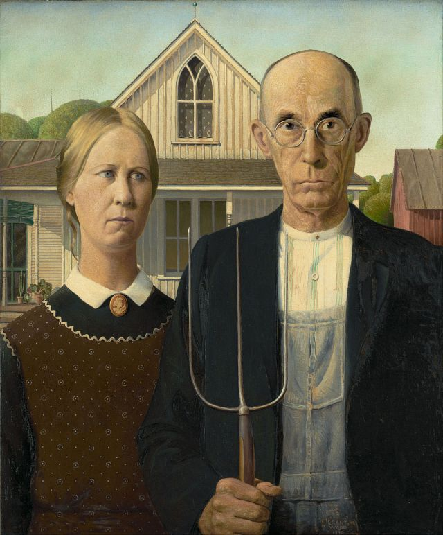American Gothic. Credit Google Art Project