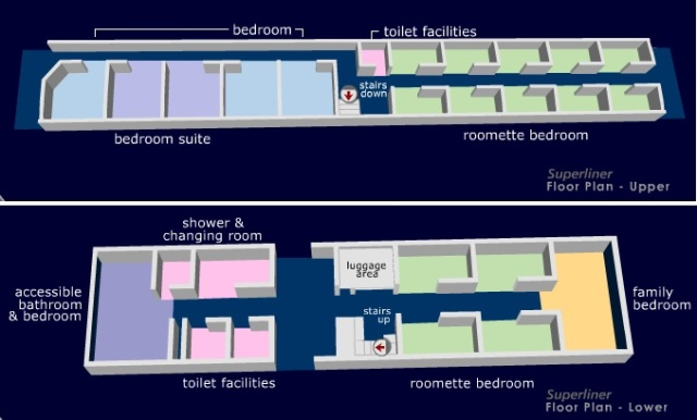 Amtrak SuperLiner sleeping car layout