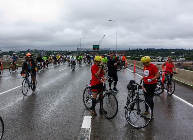 Providence Bridge Pedal/Stride on the Marquam Bridge