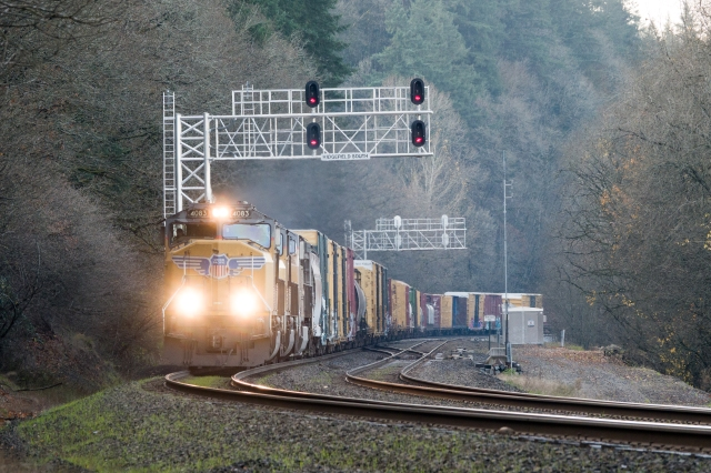 Union Pacific at Ridgefield, Washington