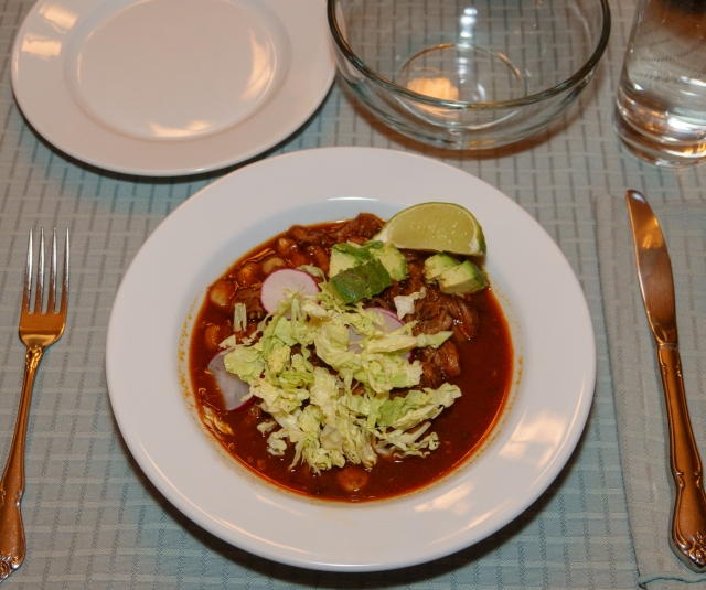 A nice bowl of posole.
