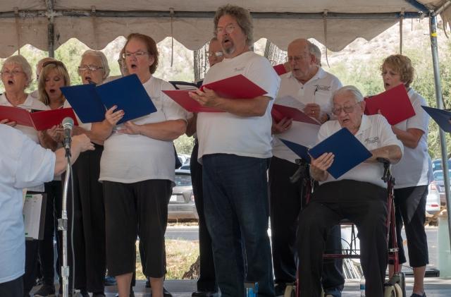 Verde Valley Voices singing at Verde Valley Day